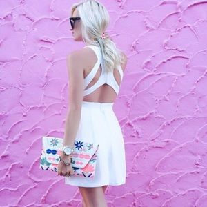 ✨LULUS Exclusive Test Drive White Skater Dress